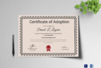 Happy Adoption Certificate Template inside Adoption Certificate Template