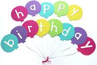 Happy Birthday Banner Diy Template | Balloon Birthday Banner with Diy Party Banner Template