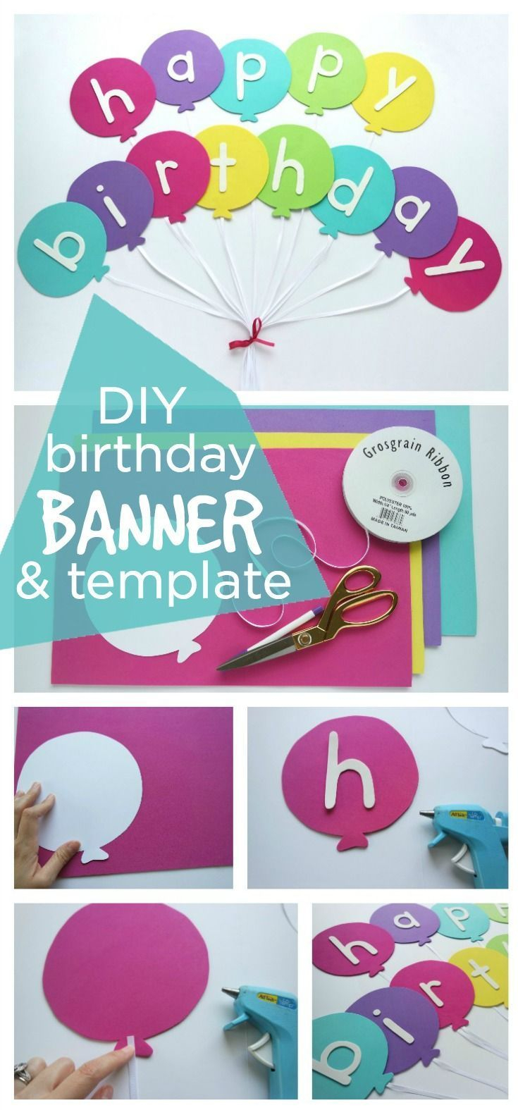 Happy Birthday Banner Diy Template | Diy Party Ideas  Group In Diy Party Banner Template