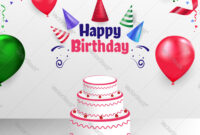 Happy Birthday Poster Banner Cover Template Design within Free Happy Birthday Banner Templates Download