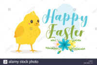 Happy Easter Design Template For Greeting Card Or Banner within Easter Chick Card Template