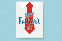 Happy Fathers Day Card Design With Big Tie. Vector Illustration. For Fathers Day Card Template
