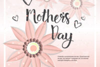 Happy Mother Day Card Background Template With with regard to Mothers Day Card Templates
