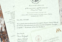 Harry Potter Birthday Invitations And Authentic Acceptance in Acceptance Card Template