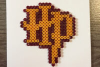 Harry Potter Blank Card Hama Beadspandkcraft | 8 Bit Art with Blank Perler Bead Template