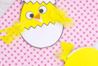 Hatching Chick Easter Card Craft – Kids Craft Room with Easter Chick Card Template