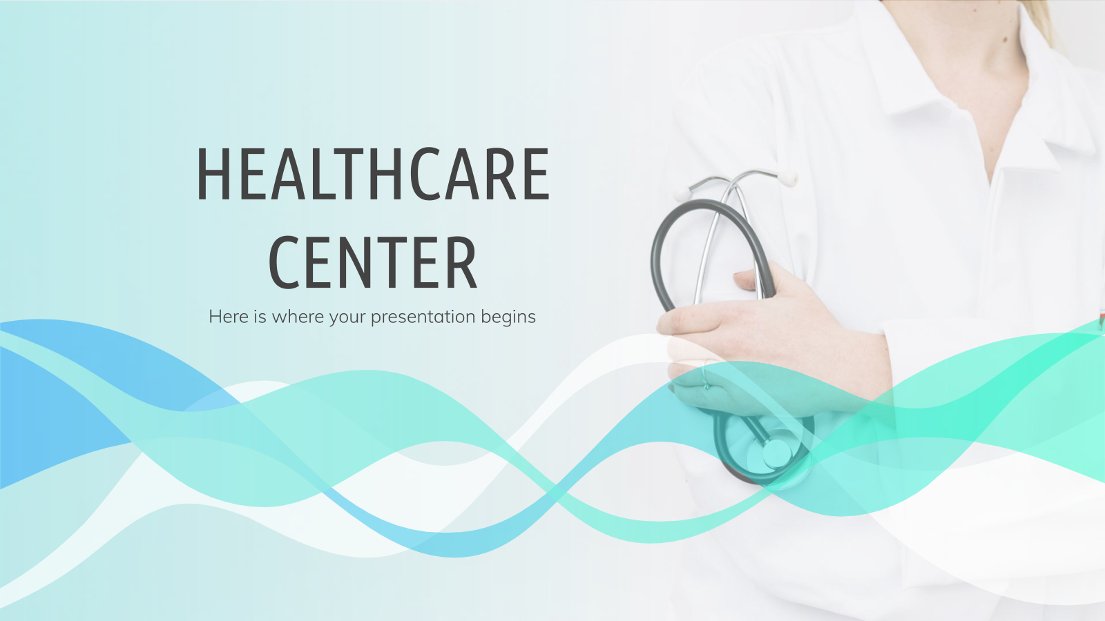 Healthcare Center - Free Presentation Template For Google For Free Nursing Powerpoint Templates