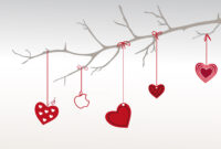 Heart Branch For Valentine Day Backgrounds For Powerpoint with Valentine Powerpoint Templates Free