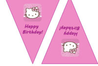 Hello Kitty Birthday Banner Template Free 2 » Happy Birthday for Hello Kitty Banner Template