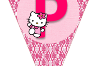 Hello Kitty Free Printable Bunting. Banderines De Hello with regard to Hello Kitty Birthday Banner Template Free