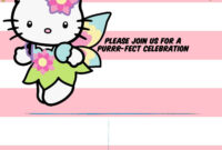 Hello Kitty Invitation Template – Portrait Mode | Free regarding Hello Kitty Birthday Banner Template Free