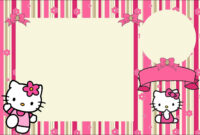 Hello Kitty With Flowers: Free Printable Invitations for Hello Kitty Banner Template