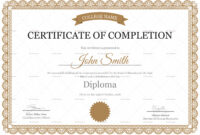 High School Completion Certificate Template pertaining to Certificate Templates For School