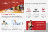 Higher Educational Brochure Template for Brochure Design Templates For Education