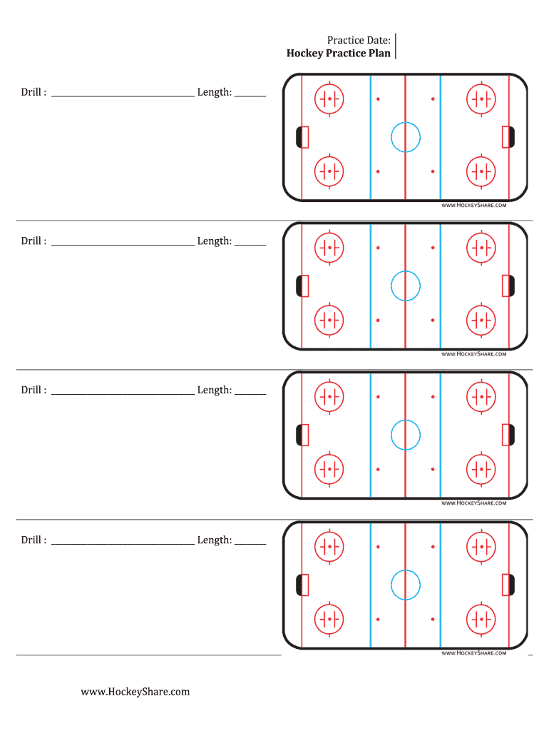 Hockey Practice Sheeyts - Fill Online, Printable, Fillable Pertaining To Blank Hockey Practice Plan Template