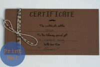 Homemade Gift Certificate Template – Atlantaauctionco throughout Homemade Gift Certificate Template