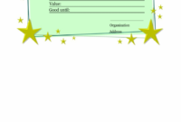 Homemade Gift Certificate Template – Printable Gift Vouchers throughout Homemade Gift Certificate Template