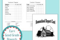 Homeschool Report Cards – Flanders Family Homelife in Homeschool Report Card Template