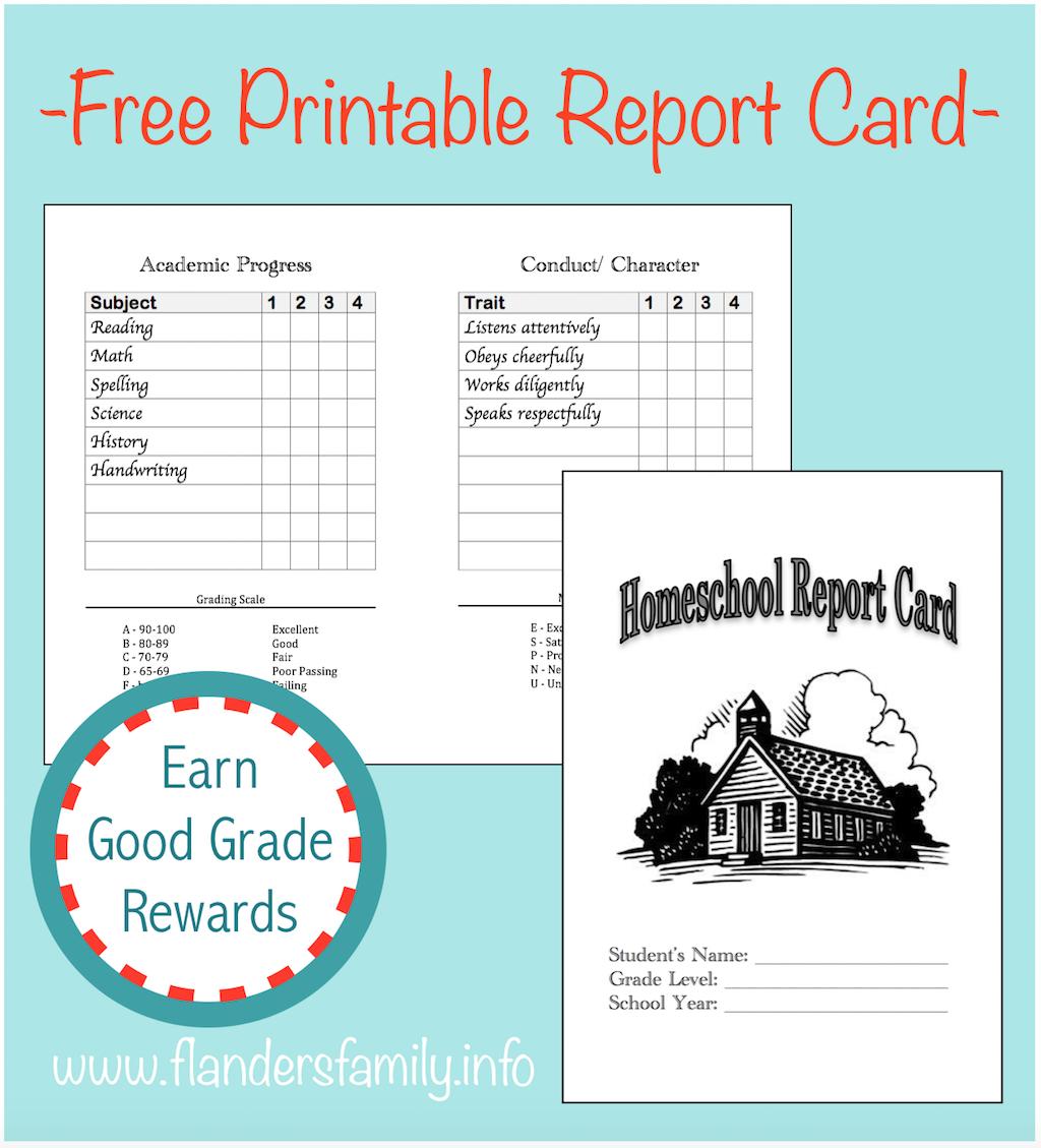 Homeschool Report Cards - Flanders Family Homelife In Homeschool Report Card Template