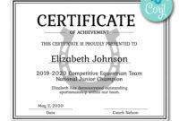 Horseshoe Certificate | Certificates | Printable Award With regarding Free Softball Certificate Templates