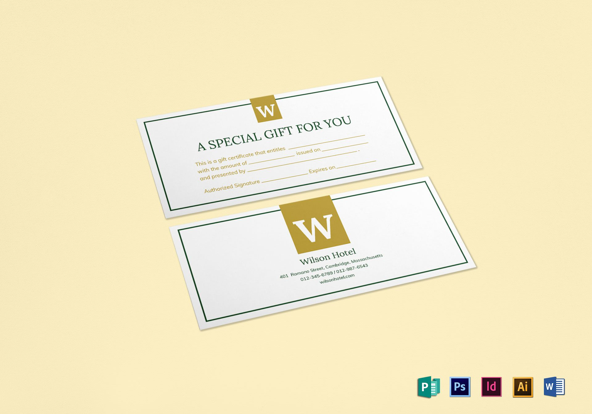 Hotel Gift Certificate Template Pertaining To Gift Certificate Template Indesign