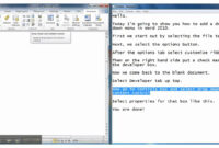 How To Add A Drop-Down Menu In Microsoft Word 2010 with regard to Word 2010 Templates And Add Ins