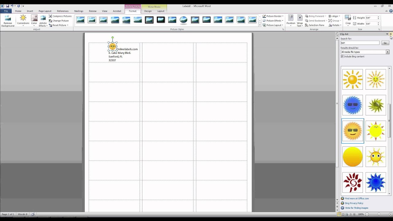 How To Add Images And Text To Label Templates In Microsoft Word With Microsoft Word Sticker Label Template