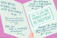 How To Best Wish Your Coworker A Happy Retirement with Sorry You Re Leaving Card Template