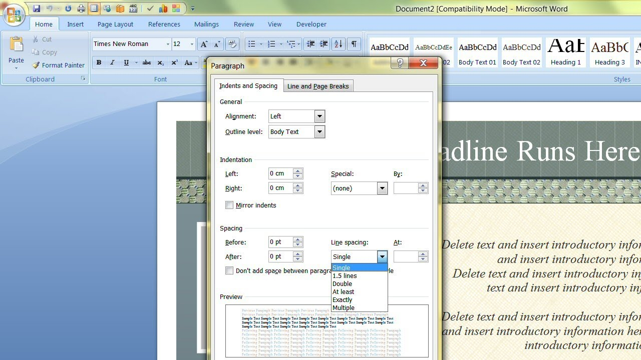How To Change The Default Template In Microsoft Word Within Change The Normal Template In Word 2010