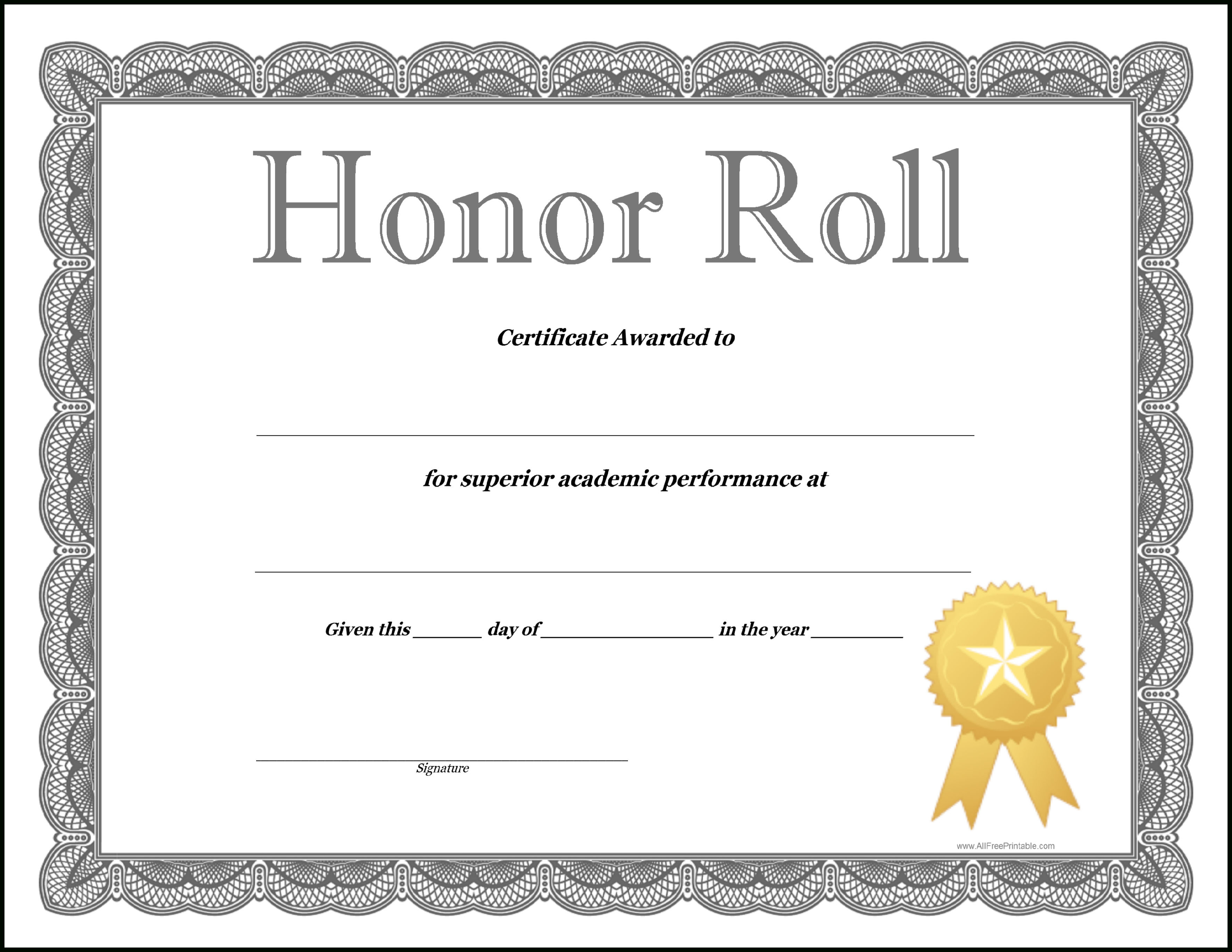 How To Craft A Professional Looking Honor Roll Certificate Pertaining To Honor Roll Certificate Template