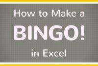 How To Create A Bingo Board Using Excel / Make Bingo Game In Excel Tutorial with regard to Blank Bingo Card Template Microsoft Word