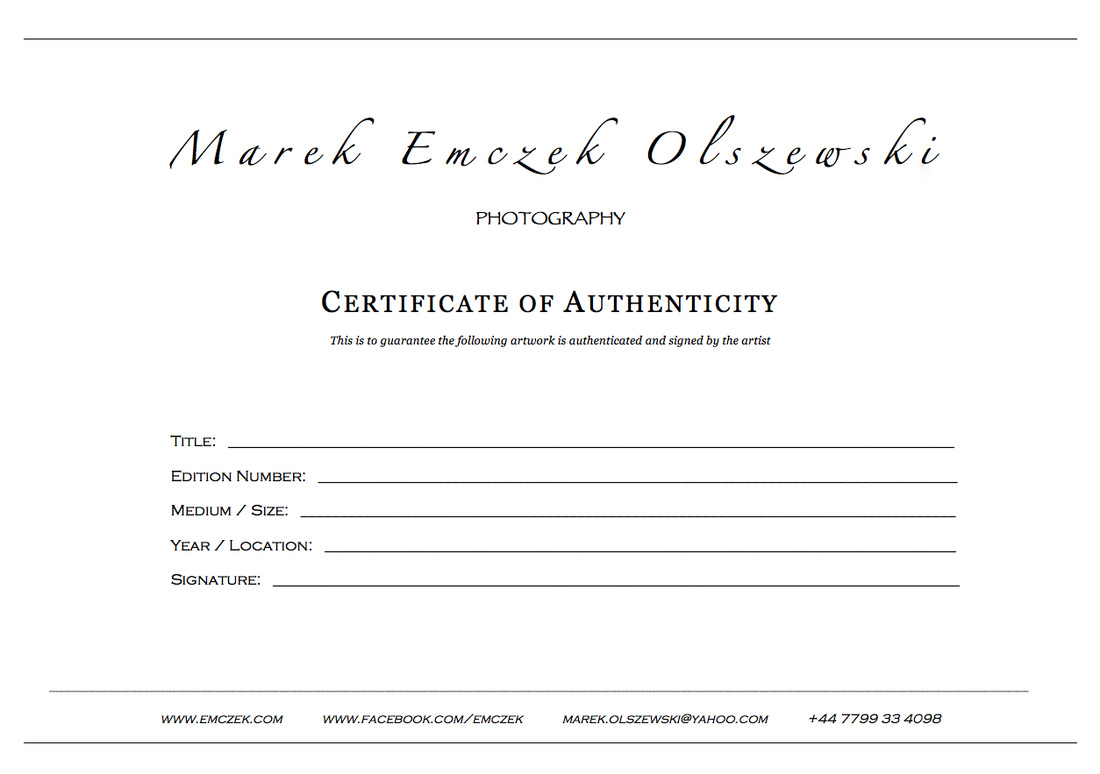 How To Create A Certificate Of Authenticity For Your Photography For Photography Certificate Of Authenticity Template