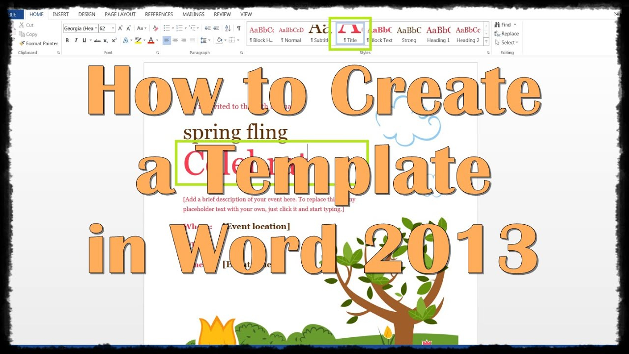 How To Create A Template In Word 2013 In How To Create A Template In Word 2013