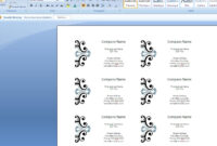 How To Create Business Cards In Microsoft Word 2007 throughout Ms Word Business Card Template