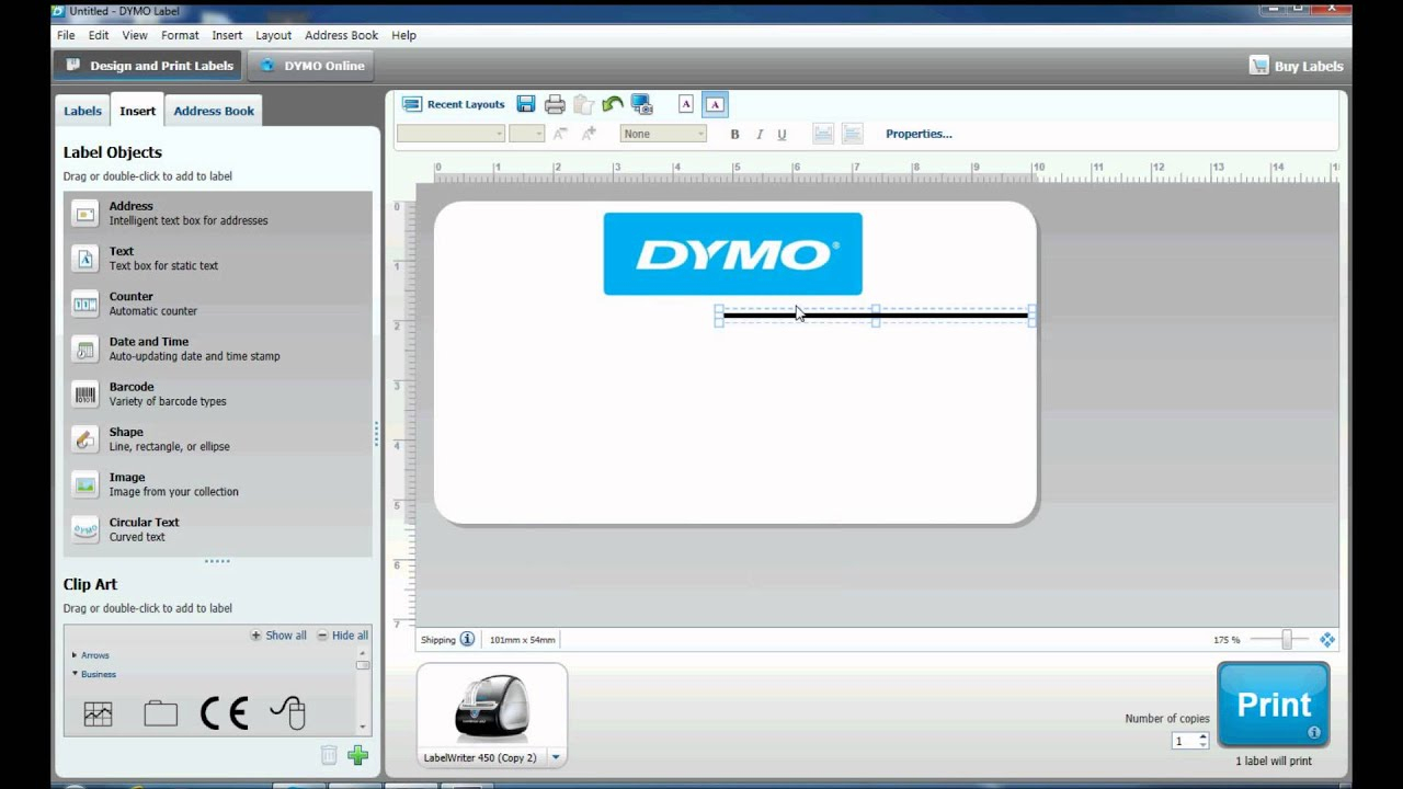 How To Create Complex Labels In Dymo Label Software Inside Dymo Label Templates For Word