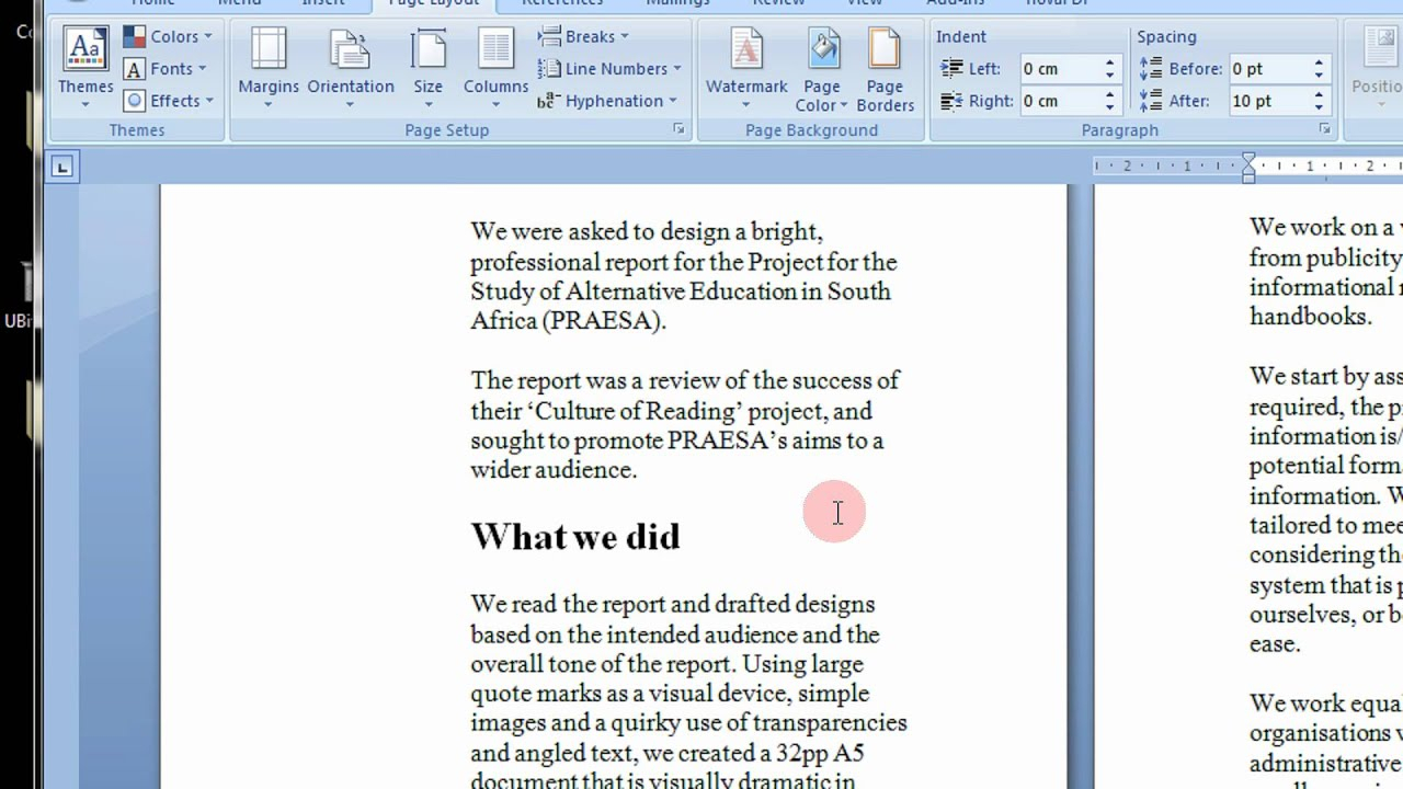 How To Create Printable Booklets In Microsoft Word 2007 & 2010 Stepstep  Tutorial Throughout Booklet Template Microsoft Word 2007