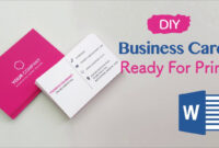 How To Create Your Business Cards In Word – Professional And Print-Ready In  4 Easy Steps! regarding Business Cards For Teachers Templates Free
