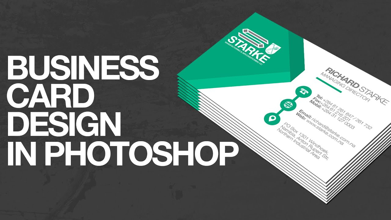 How To Design A Business Card In Photoshop Inside Create Business Card Template Photoshop