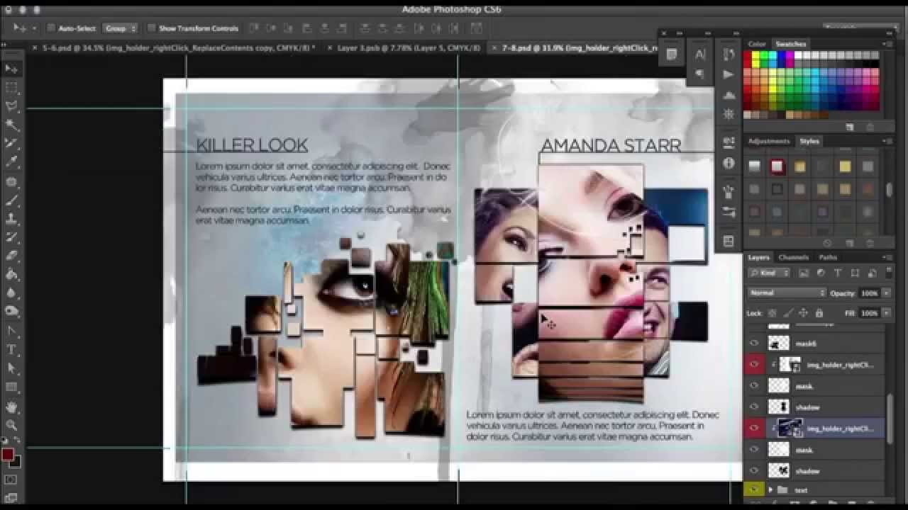 How To Design A Progessional 12 Page Brochure In Photoshop Intended For 12 Page Brochure Template