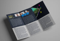 How To Design A Tri Fold Brochure Template – Photoshop Tutorial intended for One Sided Brochure Template