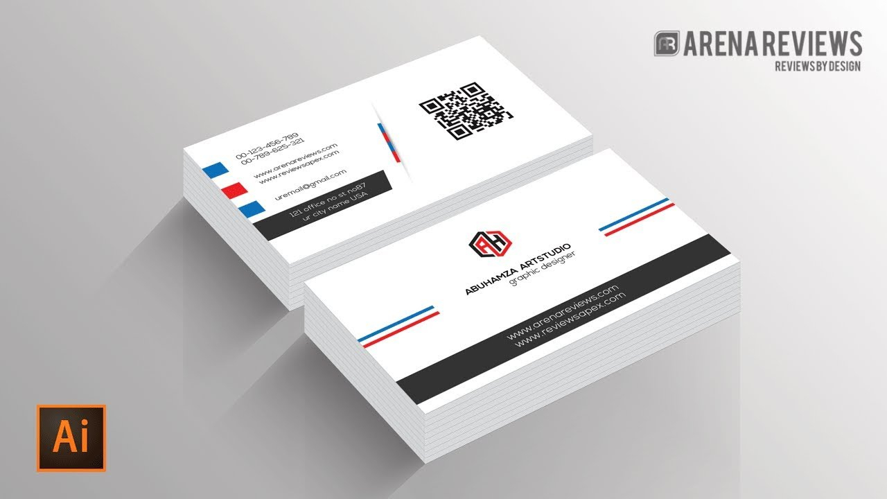 How To Design Business Card Template Illustrator Cc Tutorial Within Adobe Illustrator Business Card Template