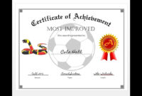 How To Easily Make A Certificate Of Achievement Award With in Certificate Of Attainment Template