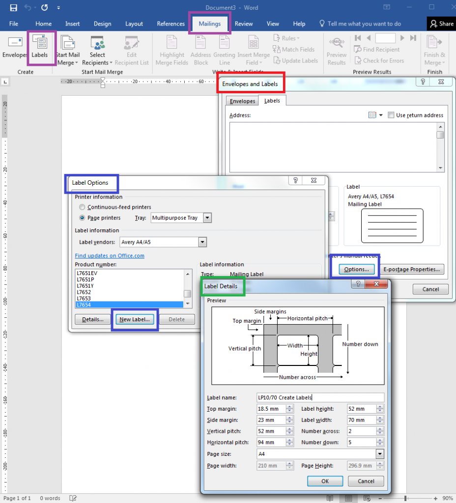 How To – How To Create Your Own Label Templates In Word For Word Label Template 21 Per Sheet