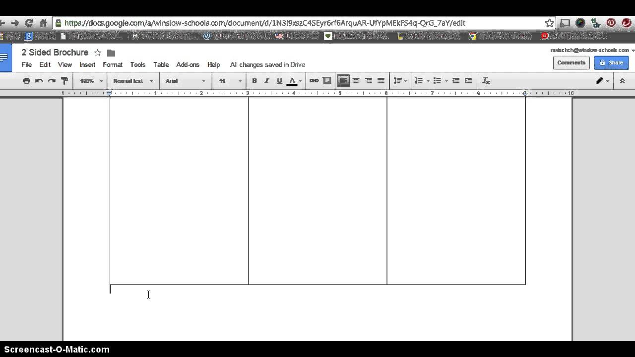 How To Make 2 Sided Brochure With Google Docs Pertaining To Brochure Template Google Drive