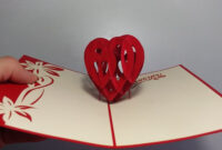 How To Make 3D Heart Valentine Day Pop Up Card – Aoc Craft with 3D Heart Pop Up Card Template Pdf