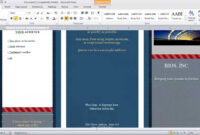 How To Make A Brochure In Microsoft Word in Ms Word Brochure Template