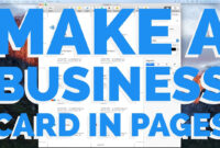 How To Make A Business Card In Pages For Mac (2016) for Business Card Template Pages Mac