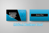 How To Make A Business Card In Photoshop inside Create Business Card Template Photoshop