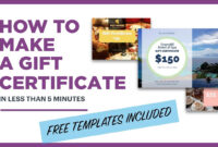 How To Make A Gift Certificate (Free Template Included) intended for Gift Certificate Template Publisher