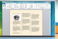 How To Make A Tri-Fold Brochure In Microsoft® Word 2007 intended for Brochure Templates For Word 2007